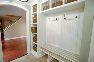 White Built-in Closet