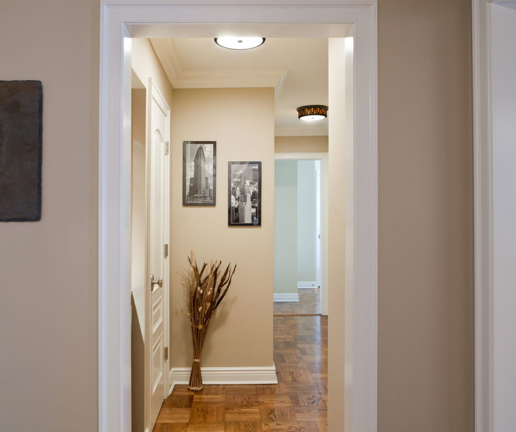 Freshly Painted Apartment Hallway With Beige Colors
